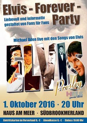 Veranstaltungsplakat zur Elvis-Forever-Party