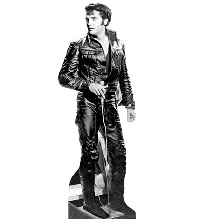 "Elvis Stand-up ""Black Leather"" (#18)"